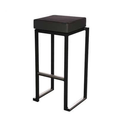 Cube Black Bar Stool