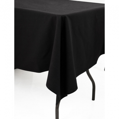 Linen Tablecloth Black 70in x 70in