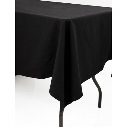 Linen Tablecloth Black 72in x 144in