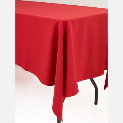 Linen Tablecloth Red Round 90in