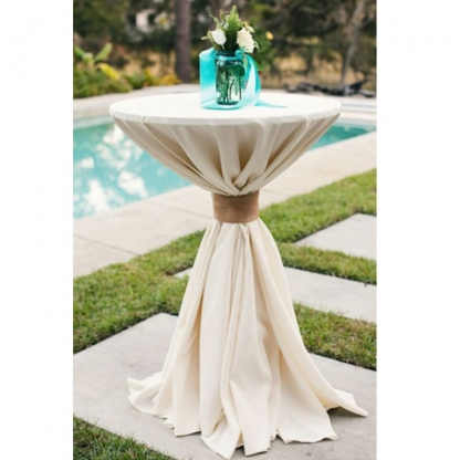 Linen Pod Table Cover Ivory