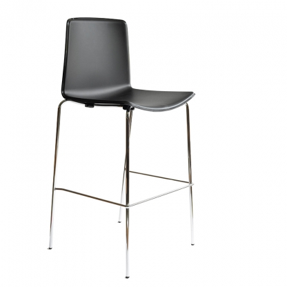 Milan Black High-back bar stool