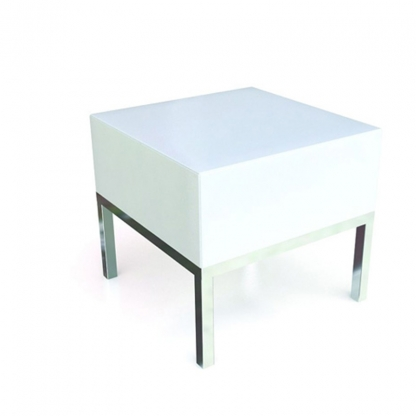 Neo Coffee Table White Leather