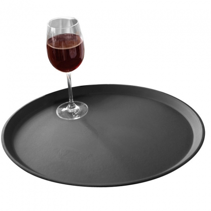Non Slip Bar Tray Brown 17in