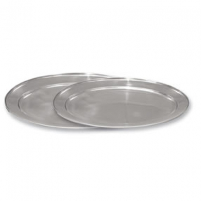 Oval Flat Stainless Steel 18in