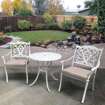 Oxford Outdoor Table Set (table with 2 chairs & cushions)