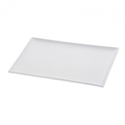 Platter Rectangular Flat White 17in x 15.5in