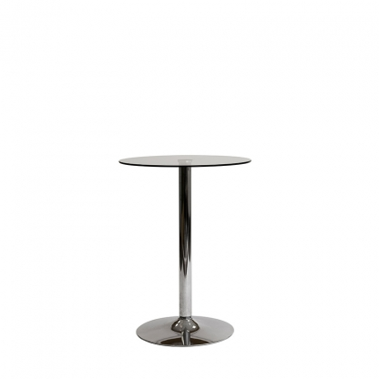 Pod Table Glass Round short