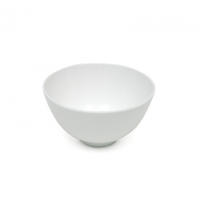 Rice Bowl with Stem White 5in