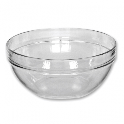 Serving Bowl Round Glass 8in / 3 Litre