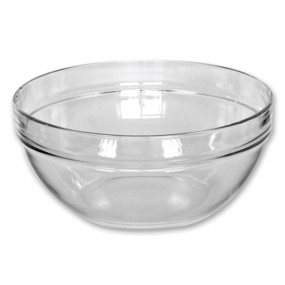 Serving Bowl Round Glass 9in / 5 Litre
