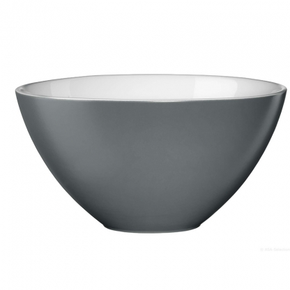 Serving Bowl Round Grey 12in
