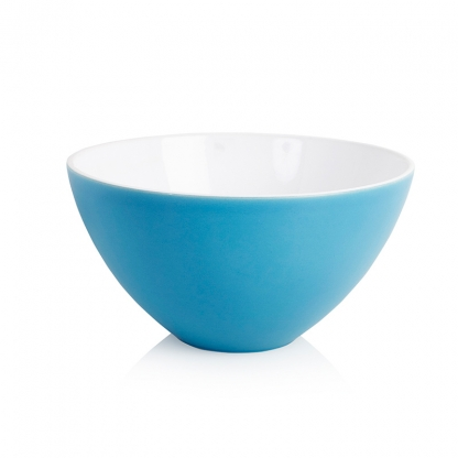 Serving Bowl Round Turquoise 12in