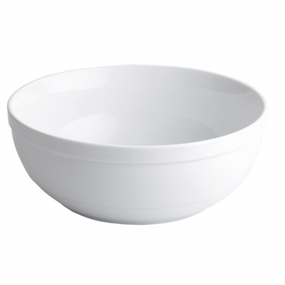 Serving Bowl Round White 9in