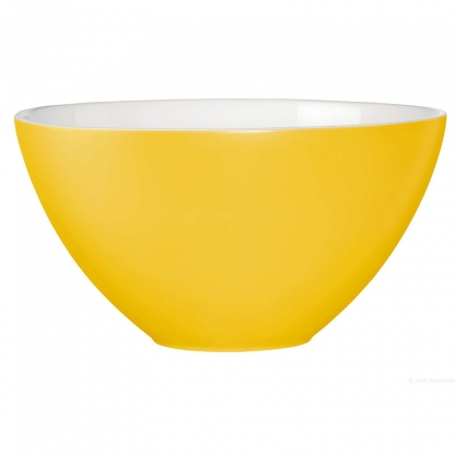 Serving Bowl Round Yellow 12in