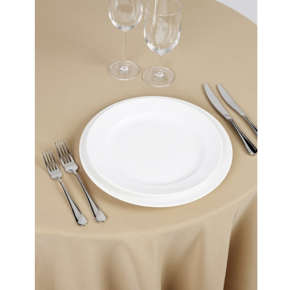 Signature Linen Tablecloth Biscuit Round 132in