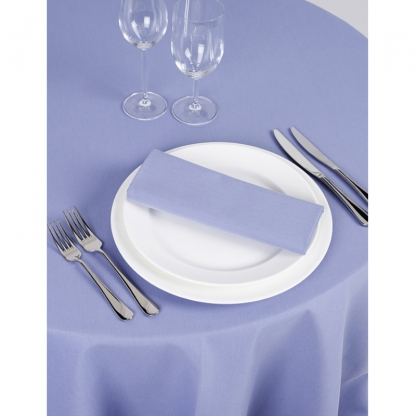Signature Linen Tablecloth Lavender Round 132in