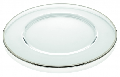 Charger Plate Silver Rim 12in