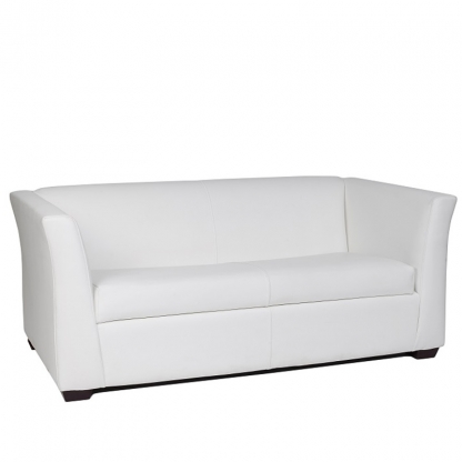 Sorrento 3 Seater Sofa White Leather