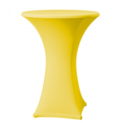 Spandex Pod Table Cover Lemon/Yellow
