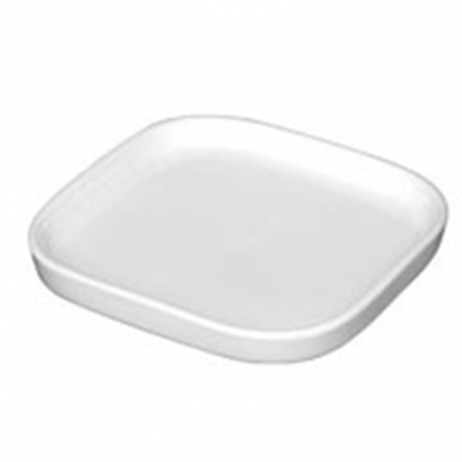 Square Mini Dish Flat White 3in