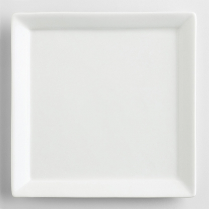 Square Mini Dish White 4.7in