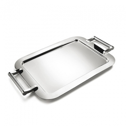 Stacking Buffet Tray Silver