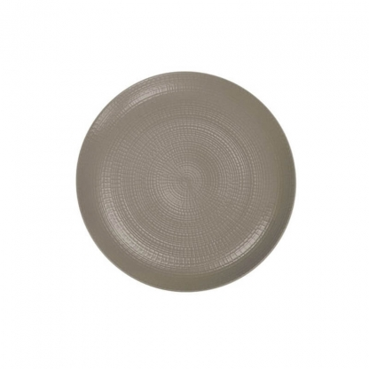 Taupe Stoneware Round Dinner Plate 11""