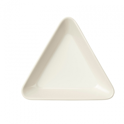 Triangle Mini Dish White 3in