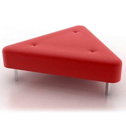Triangle Ottoman Red