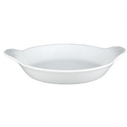 Vegatable Serving Dish Oval Lugged White 10.5in