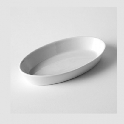 Vegatable Serving Dish Oval White 10in