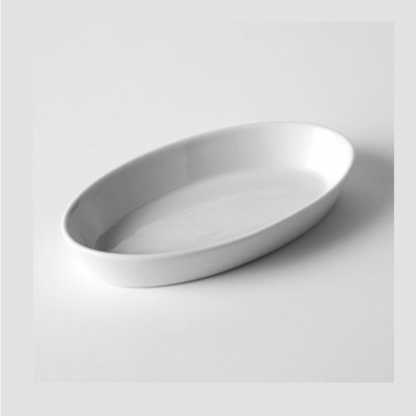 Vegatable Serving Dish Oval White 12in