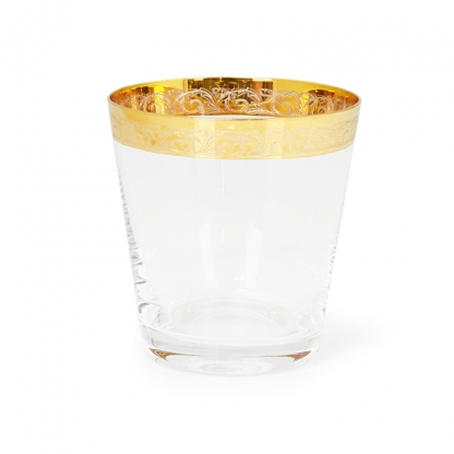 Victoria Gold Rim Water Glass 11oz