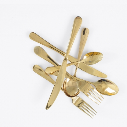 Victoria Gold Cutlery Set
