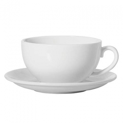 White Cappuccino Cup Saucer