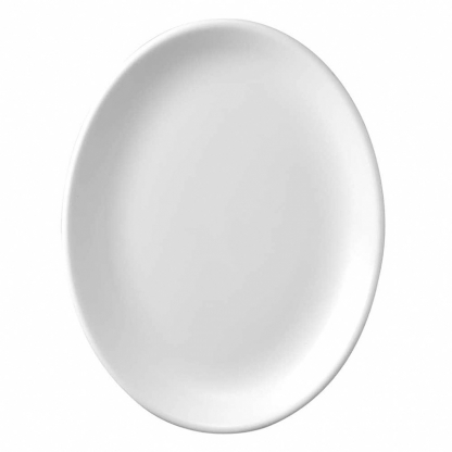White Oval Plate / Sauce Boat  Underliner 8in