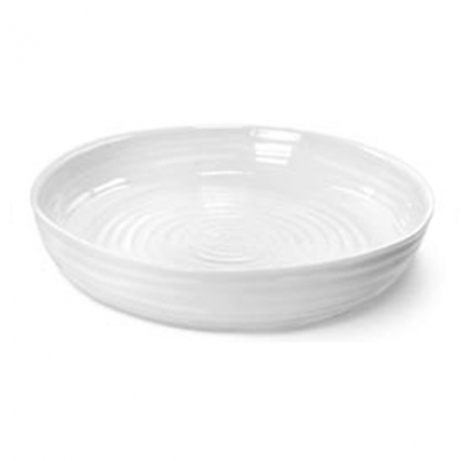 White Round Lipped Platter 14in