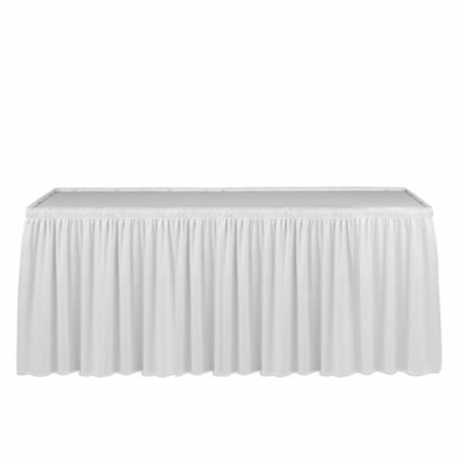 Linen Table Skirting White 9ft/108in