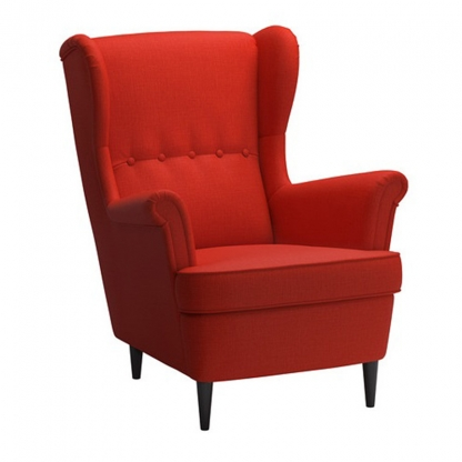 Wingback Armchair Red