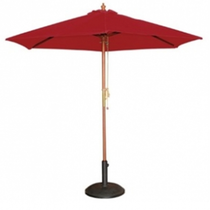 Wooden Parasol Red