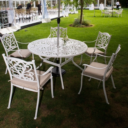 Oxford Table Set (table with 4 chairs and cushions)