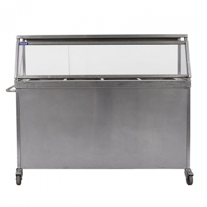 Bain Marie 4 Well with Hot Plate & Gantry Lights