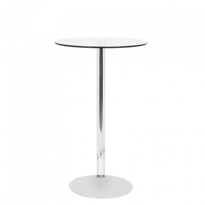 Pod Table Glass Round