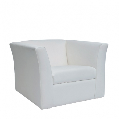 Sorrento Armchair White Leather
