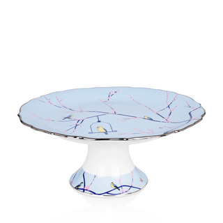 """Footed Cake Stand Blue 10.5"""""""