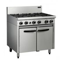 6 Ring Industrial Range and Cooker (Gas)