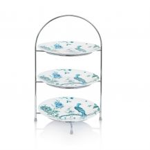 """Afternoon Tea Stand Vintage Silver 3 Tier (9"""" plate)"""