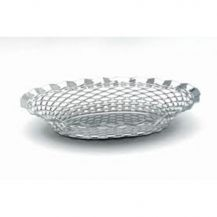 Bread Basket Round Stainless Steel 9.5in