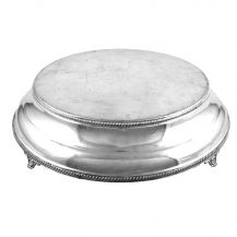 Cake Stand Round Silver 16in